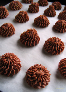 Crispy choco cookies - before bake