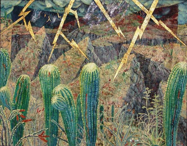 Lightning Forestby Charlotte Bender, 1995, oil on canvas, 42 1/2 X 54 1/2