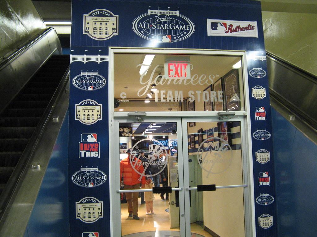 newest fa32c 1b7a4 Yankees Team Store, interior Yankee Stadium entrance, 4/2 ...