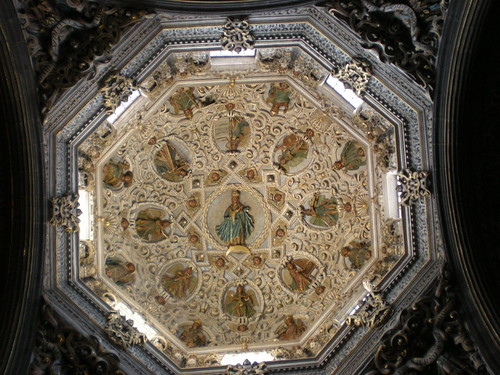 PARTS OF CEILING REPRESENT FAITH HOPE AND CHARITY