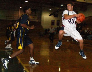 """O'Hara's Chuck """"Skyman"""" Naimoli vs. West Catholic in a holiday tournament game in 2008-09. 