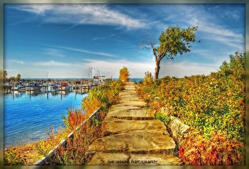 "ohio fallleaves boats harbor flickr lakeerie waterfront cleveland autumncolors hdr sunnyday shutterpriority focallength18mm colorphotoaward doniannone colourartaward nikond80camera isospeed100 hdrprocessing olétusfotos ""flickraward"" fstopf100"