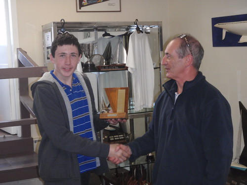 Andrew Coffin winner of the Andrew's trophy - Junior Winter Series | by PLSC (Panmure Lagoon Sailing Club)