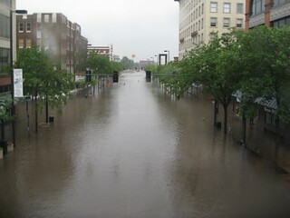 3rd Ave Cedar Rapids from Skywalk - Iowa flood | by mherzber