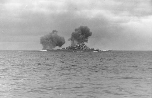 The Bismarck in Battle