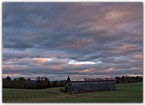 sky clouds barn landscape virginia hdr leecounty