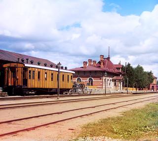 Sergei Prokudin-Gorskii: Borodino station, Russian Empire, 1911