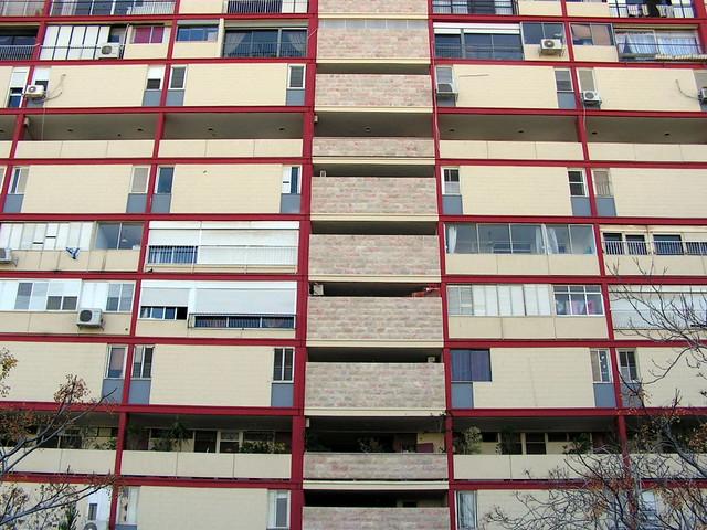 Unité d'Habitation - haifa - orthogonal facade