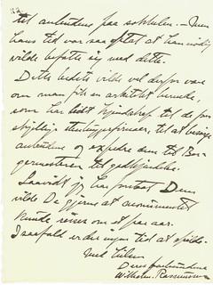 1918.06.27 - Brev fra billedhugger Wilhelm Rasmussen til grosserer Dyre Halse [side 3 av 3]