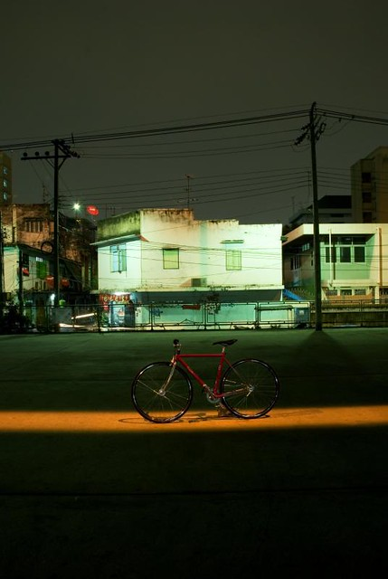 bike and cityscape