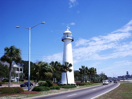 lighthouse mississippi gulfofmexico conicaltower nationalregisterofhistoricplaces us90 1848 harrisoncounty biloximississippi