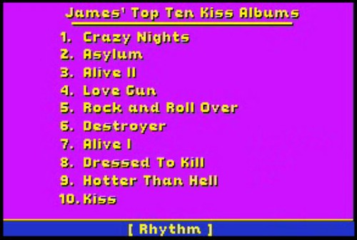 James' Top Ten Kiss Albums