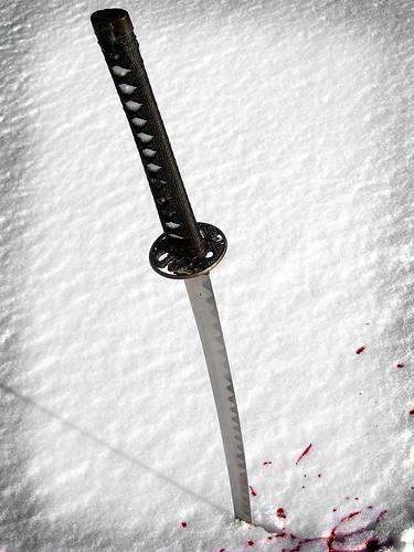 snow death poem ghost battle fallen duel samurai void katana flea the slain theghostofaflea kensai76