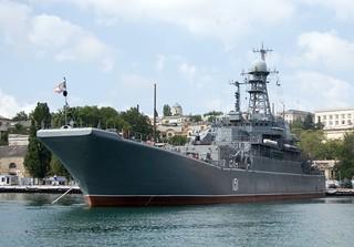 """""""Azov"""" - a Project 775M landing ship in Sevastopol, Crimea"""