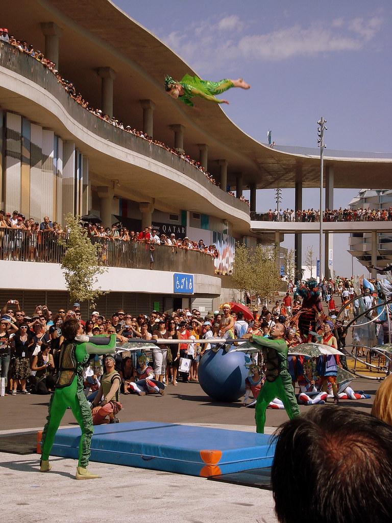 El Cirque du Soleil, Chica en el aire