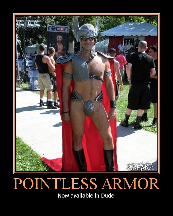 pointless armor