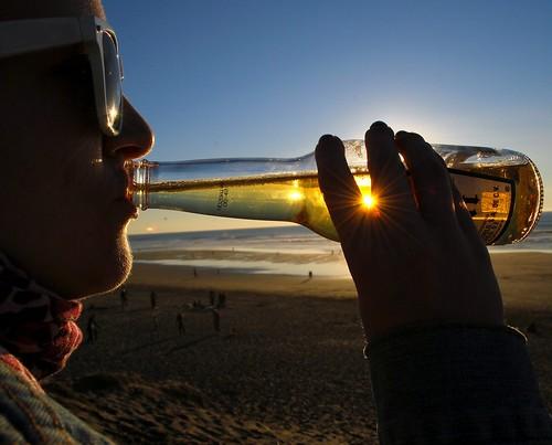 sanfrancisco sunset beer drinking saturday oceanbeach sanddunes