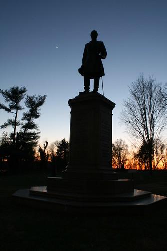 sunset statue virginia fredericksburg
