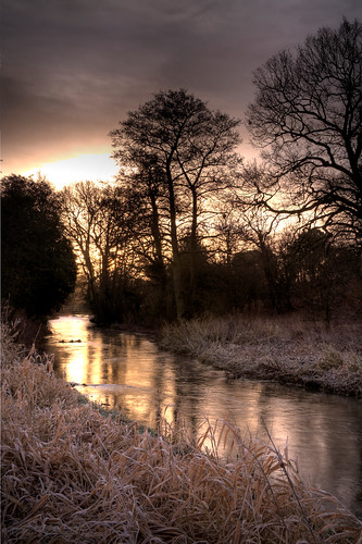 morning sunrise norfolk castleacre watermeadows rivernar