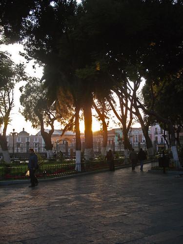 Otra tarde en el Zócalo de Puebla