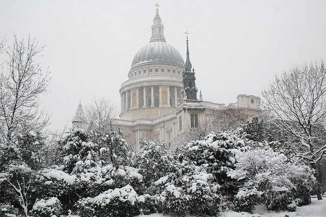 Snow and St Paul's