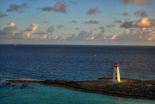 morning sea sky lighthouse water clouds sunrise island nikon paradise harbour caribbean bahamas nassau hdr d80 diamondclassphotographer