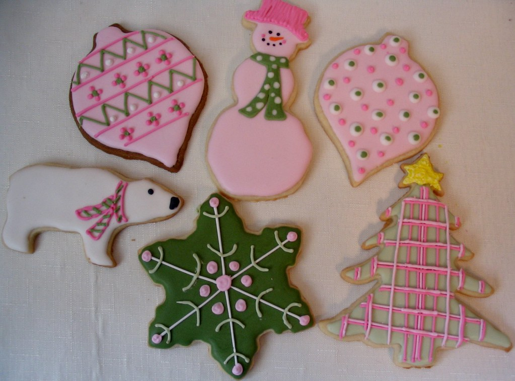 Pink And Green Christmas Cookies Love Pink And Green Chris Flickr
