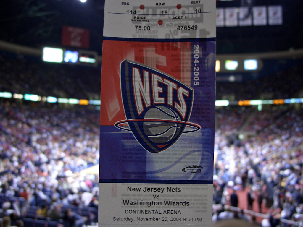newest aee13 cfdde NBA - New Jersey Nets vs Washington Wizards in Continental ...