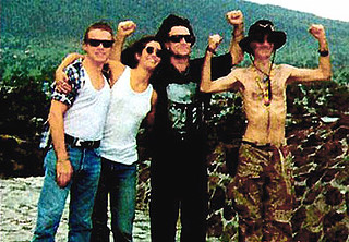 Larry Mullen Jr & Morleigh Steinberg & Bono & BP Fallon in Mexico | by bp fallon