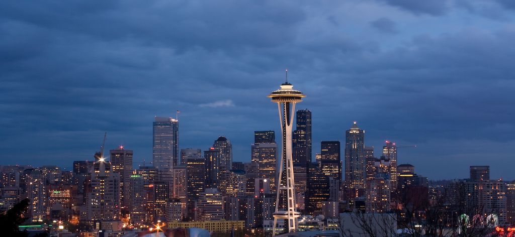 View of Seattle downtown from Kerry park by JPChamberland