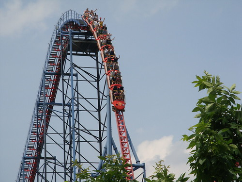 Superman Ride of Steel at Six Flags New England Trip June 2008   by milst1