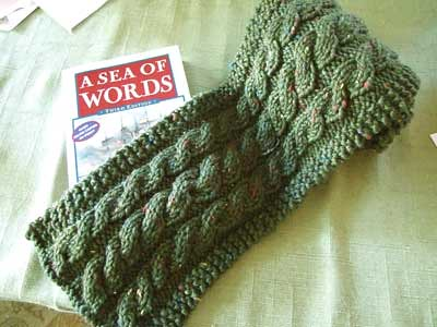Momogus Knits Easy Cable Scarf Pattern Prototype Cascade Flickr
