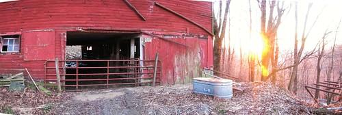 winter sunset red west barn river virginia wv westvirginia cheat redbarn cheatriver