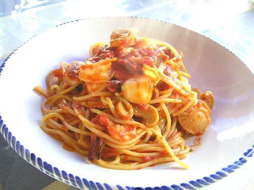 Seafood Pasta, Tomato sauce