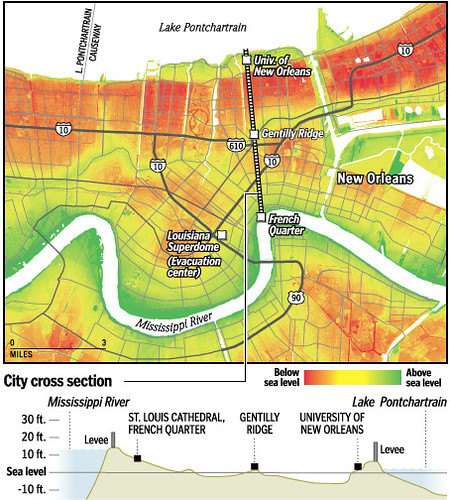 elevation map of new orleans Gr2005082900046 Elevation Map Of New Orleans From The Was Flickr elevation map of new orleans