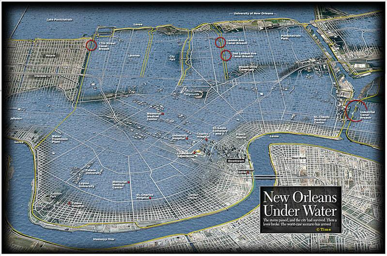 new orleans flooding katrina map New Orleans Flood Map Post Hurricane Katrina This Amazin Flickr new orleans flooding katrina map