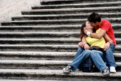 kiss on the steps | by jonrawlinson