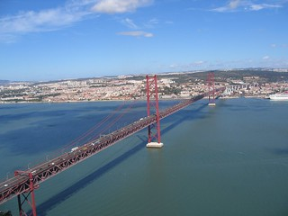 View of Ponte 25 de Abril from Cristo Rei | by Bernt Rostad