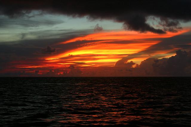 Sunset off Union Island