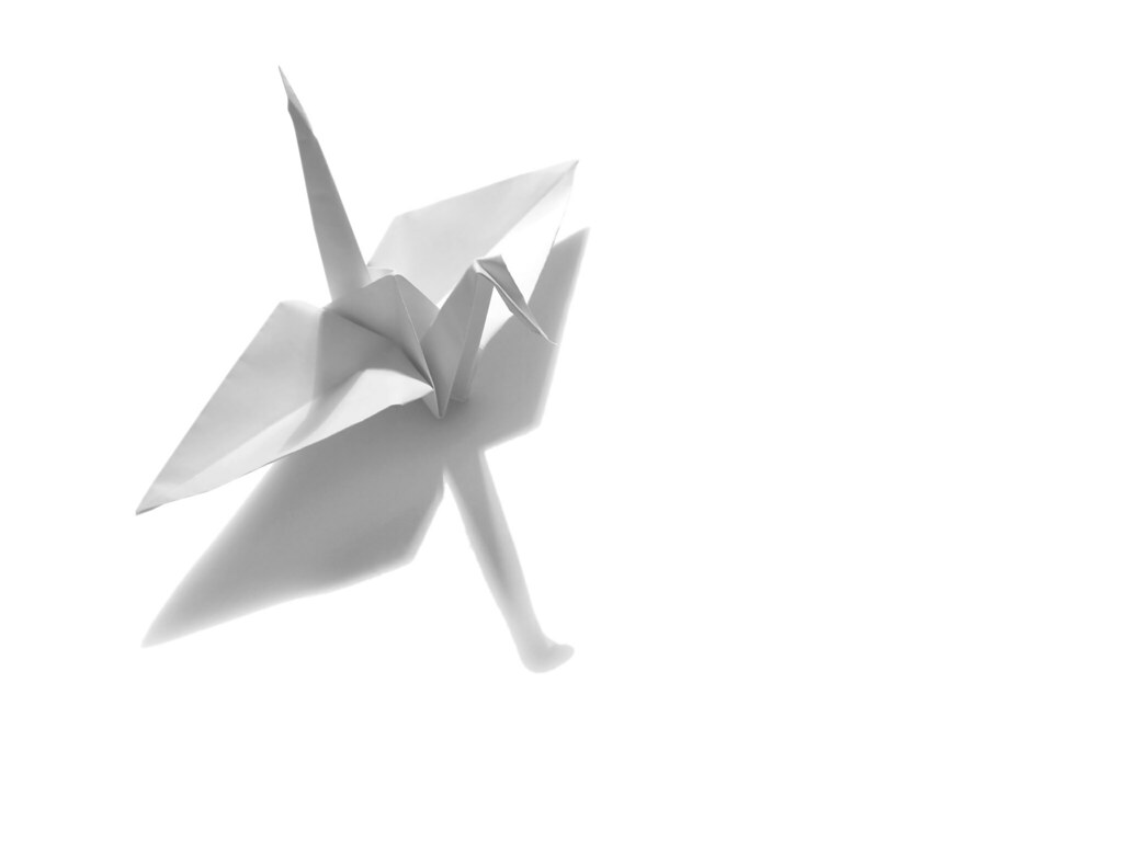 Amazon.com: Hangnuo 100 PCS Origami Paper Cranes White, Folded DIY ...   768x1024