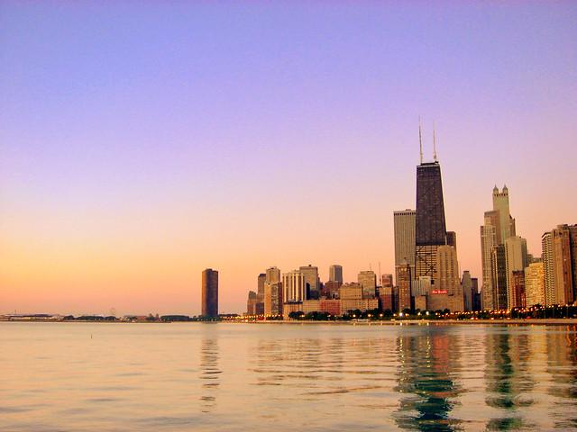 Chicago Skyline at Dawn.