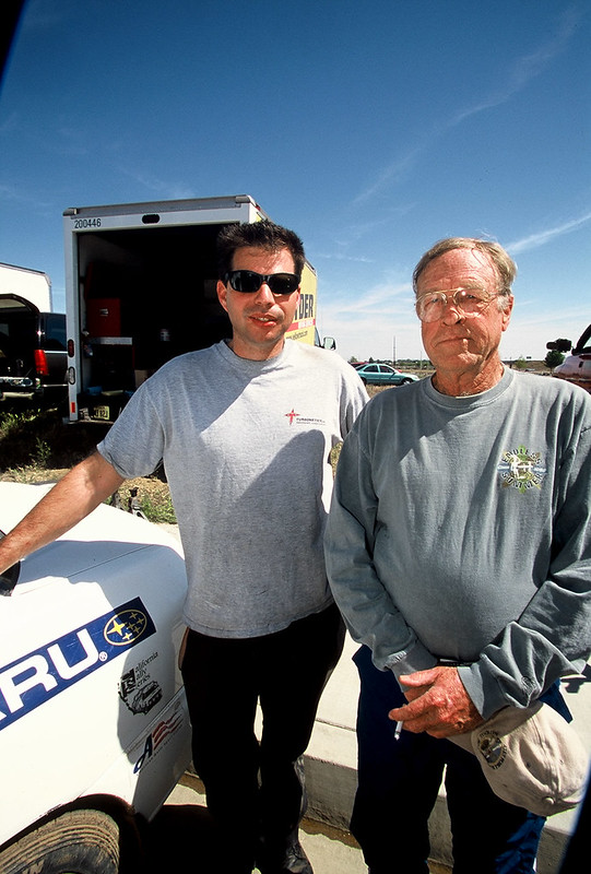 Mike Welch of Road Race Engineering and Bruce Brown of fame; On Any Sunday / Endless Summer