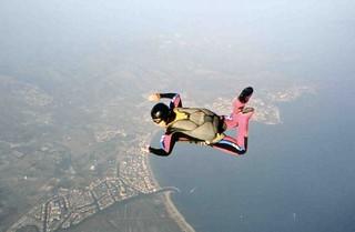 freefall above the Costa Brava
