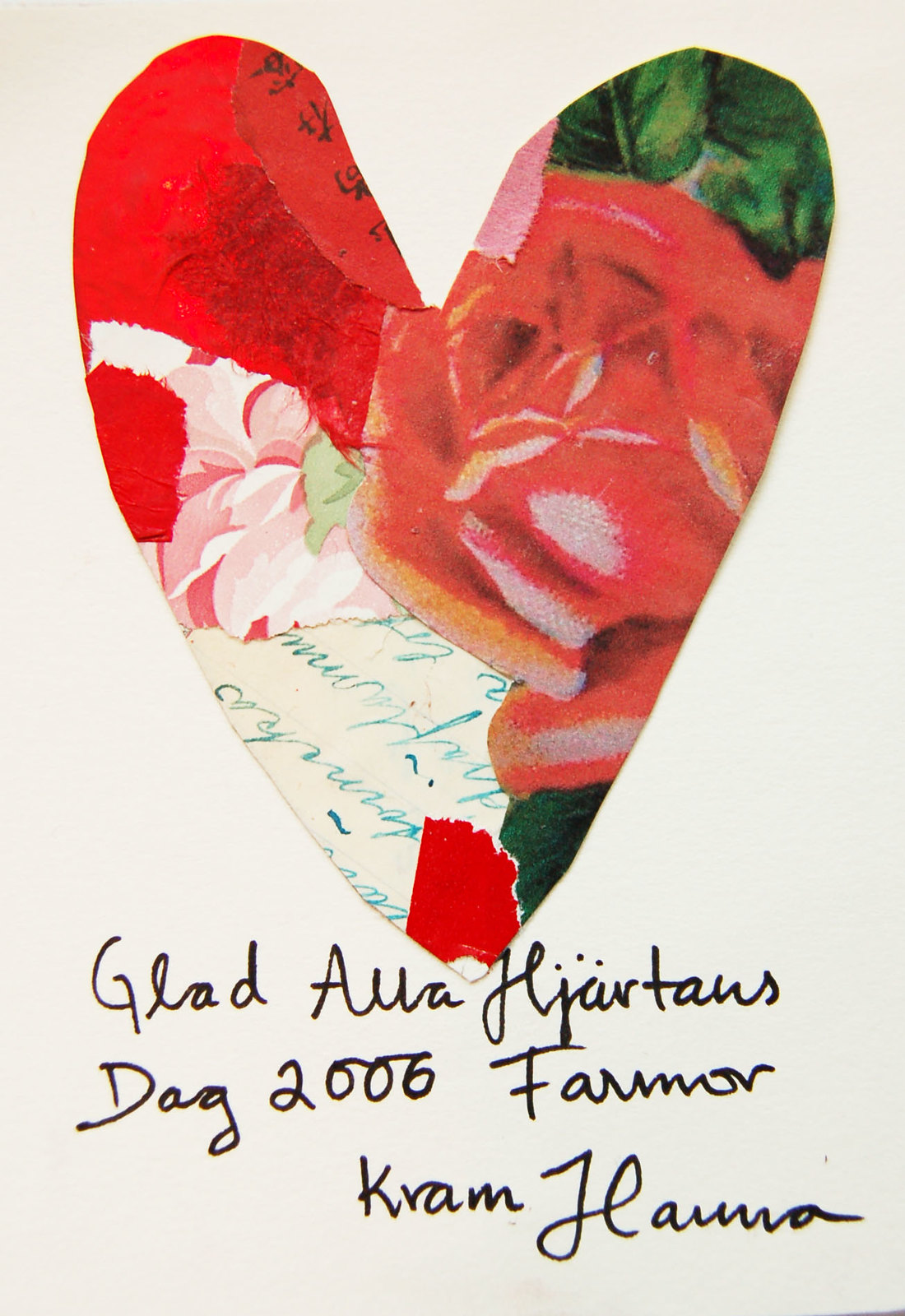 Valentines Day Card for grandmother / till farmor from iHanna