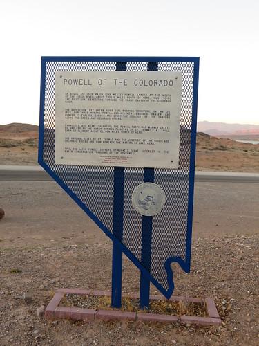 Powell of the Colorado, Nevada Historical Marker No. 37, Echo Bay, Nevada