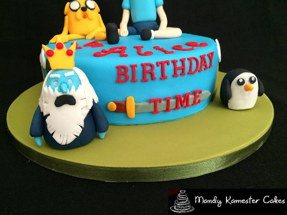 Phenomenal Adventure Time Birthday Cake Finn Jake The Ice King And Flickr Funny Birthday Cards Online Alyptdamsfinfo