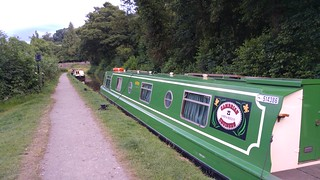 Narrowboat moored at Talybont-on-Usk | by pluralzed