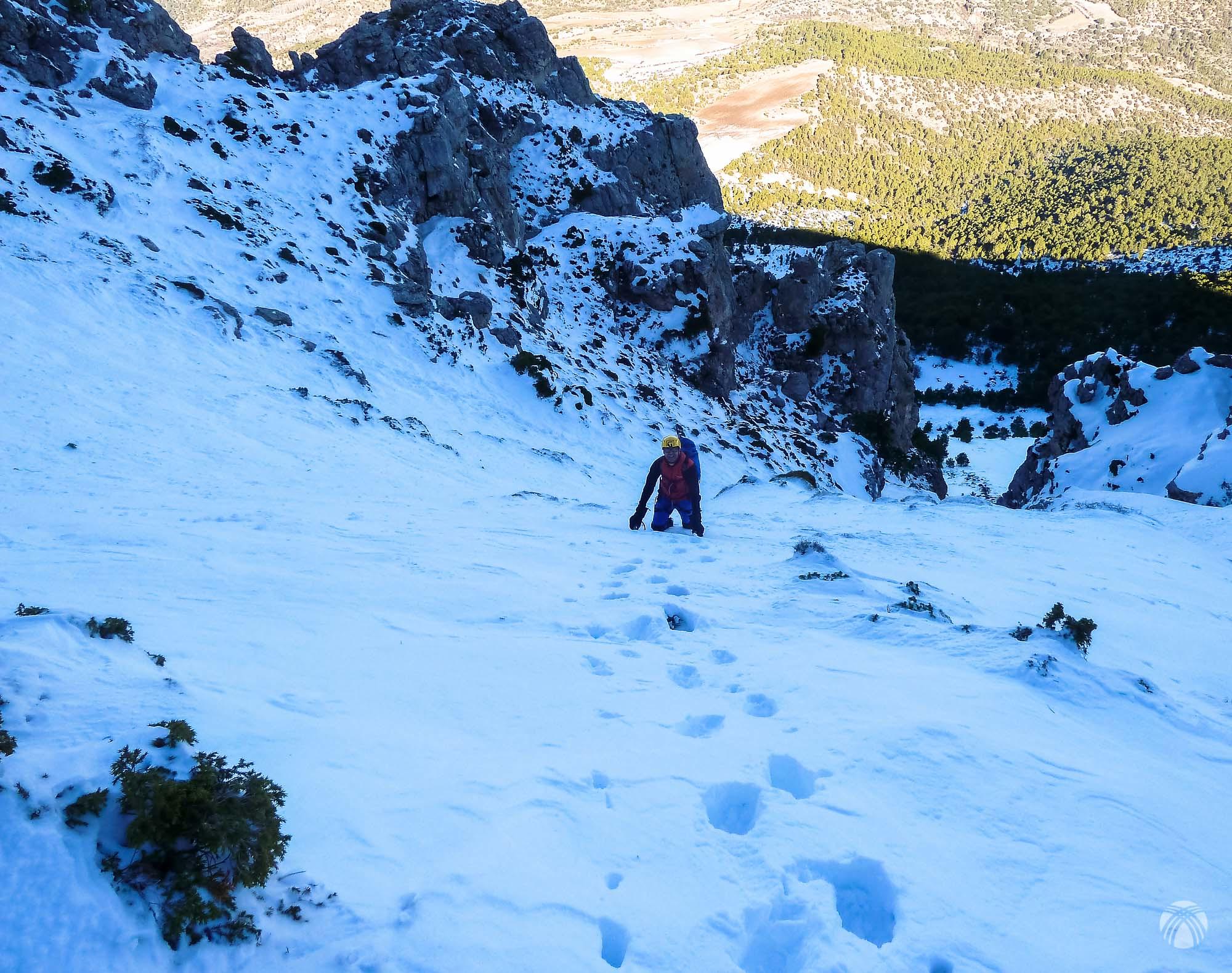 La nieve empeora conforme ganamos altura