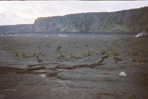 broken lava at Kilauea Iki