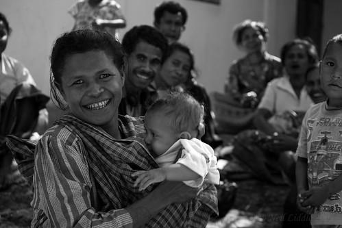 portrait bw baby group mother easttimor oecussi rtwoverland